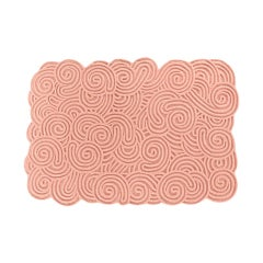 Karesansui Pink Rectangular Small Rug by Matteo Cibic