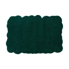 Karesansui Green Rectangular Small Rug by Matteo Cibic