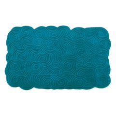 Karesansui Light Blue Rectangular Small Rug by Matteo Cibic