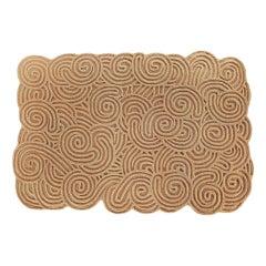 Karesansui Rectangular Small Rug Sand by Matteo Cibic