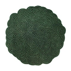 Karesansui Green Round Rug by Matteo Cibic
