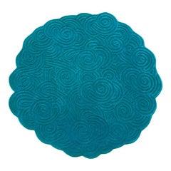 Karesansui Light Blue Round Rug by Matteo Cibic