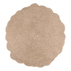 Karesansui Beige Round Rug by Matteo Cibic