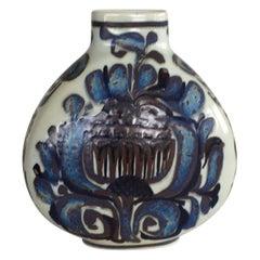 Kari Christensen, Danish Floral Decoration Vase, Royal Copenhagen Aluminia