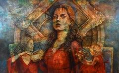 """KAM002"" Mixed media Painting 67""x106"" inch by Karim Abd Elmalak"