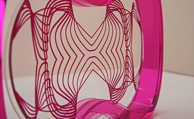 Italian Plexiglass  Contemporary Pop Frame, Humour Plexi Fuchsia For Sale 2