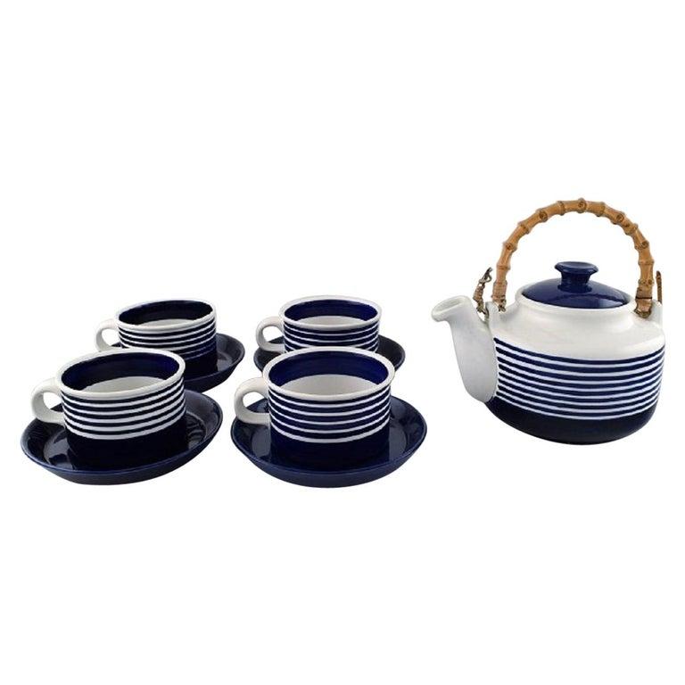 """Karin Björquist for Gustavsberg, Set of Four """"Kobolt"""" Teacups For Sale"""