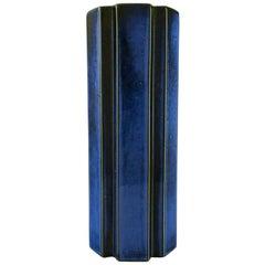 """Karin Björquist for Gustavsberg, Large """"Octagon"""" Vase in Glazed Ceramics, 1960s"""