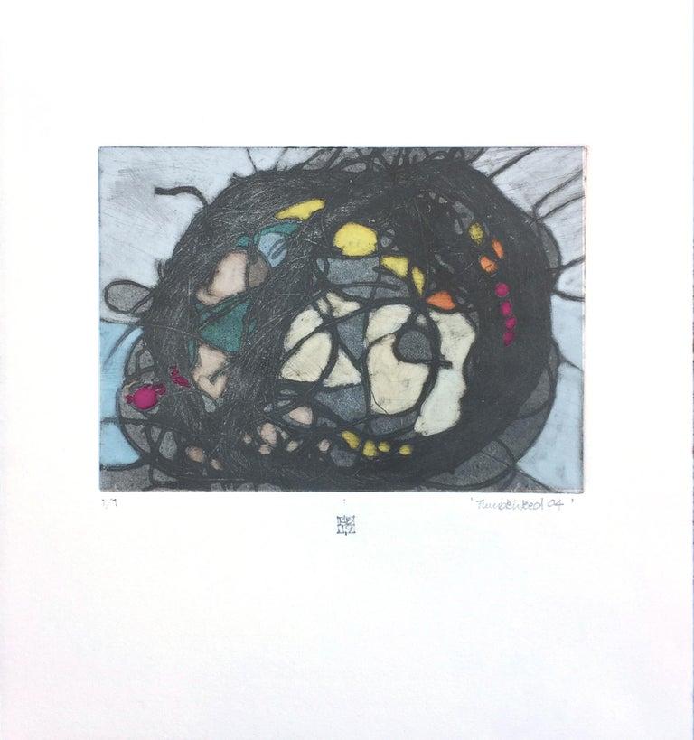 TumbleWeed 04, abstract mixed media on paper, multicolored - Mixed Media Art by Karin Bruckner