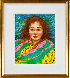 'Presence (Self Portrait)' original oil painting signed by Karin Kaufman