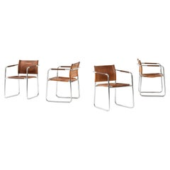 Karin Mobring Armchairs Model Amiral Produced in Sweden