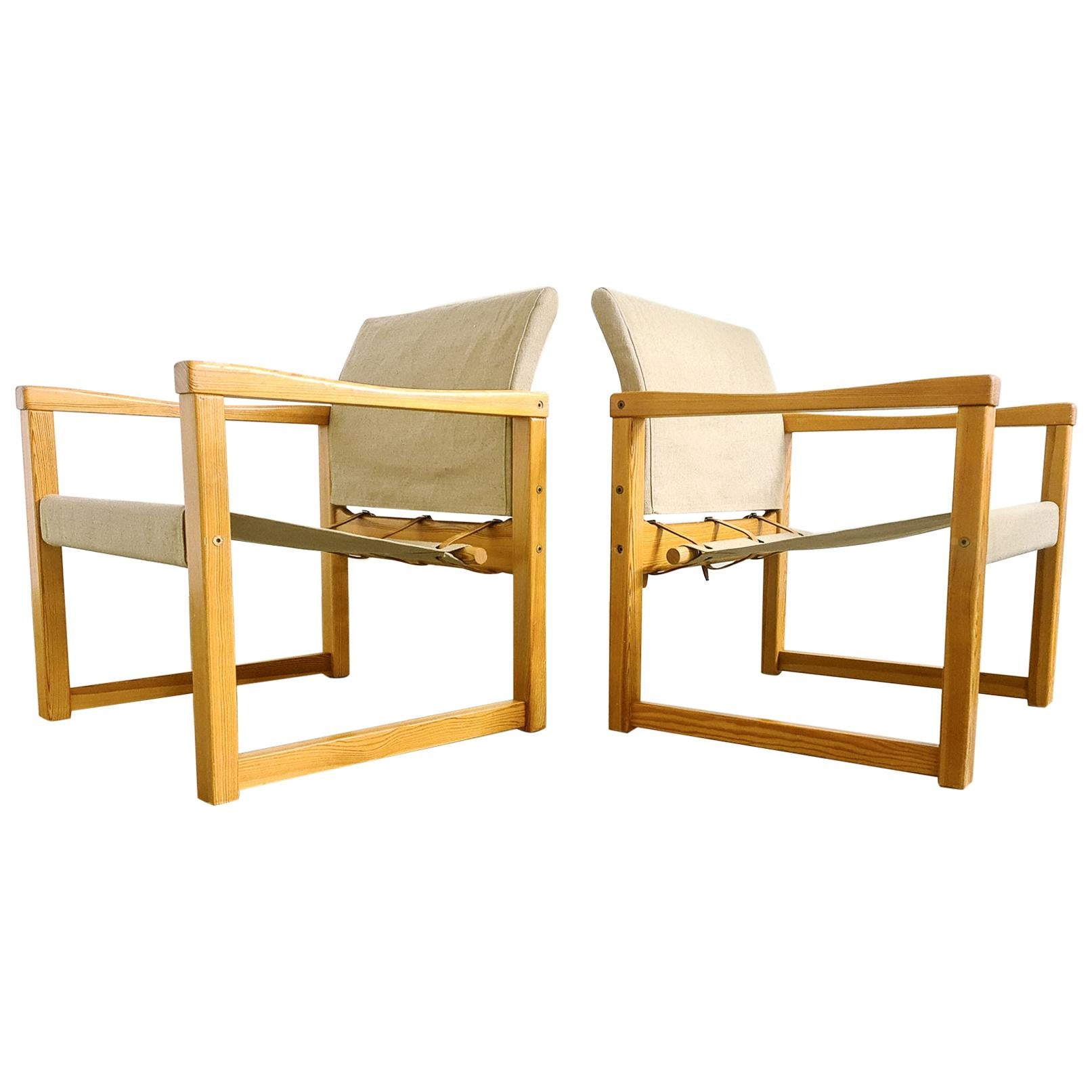 Karin Mobring Armchairs Model Diana by Ikea in Sweden, 1970s