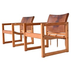 Karin Mobring Diana Safari Lounge Chairs Ikea, Sweden, 1970