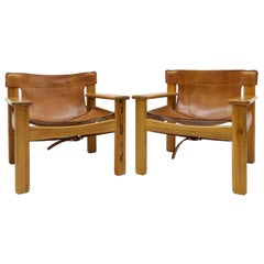 "Karin Mobring ""Natura"" Leather Lounge Chairs"