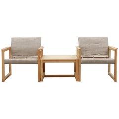Karin Mobring Pine and Canvas Safari Lounge Set