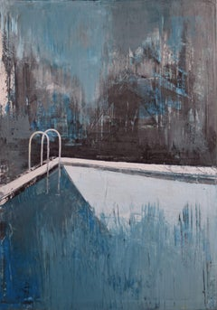 """oil painting """"Pool 5"""", Painting, Oil on Canvas"""