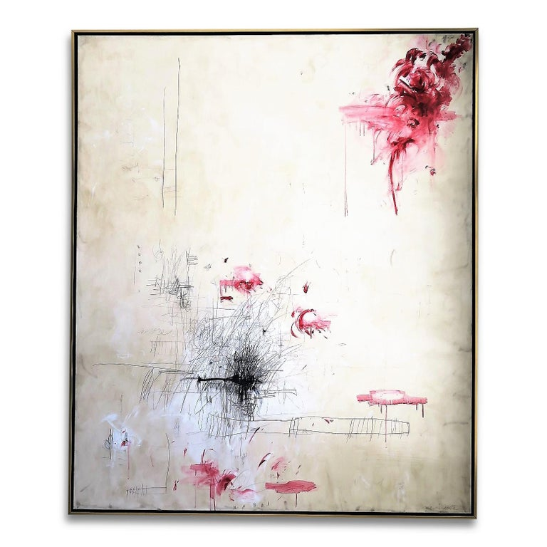 """Amore"" Original Painting by Karina Gentinetta, Signed 60"" x 72"" 1"