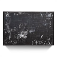 """""""Layers of Time"""" Black and White Painting with Pencils and Oil Pastels, 48""""x72"""""""