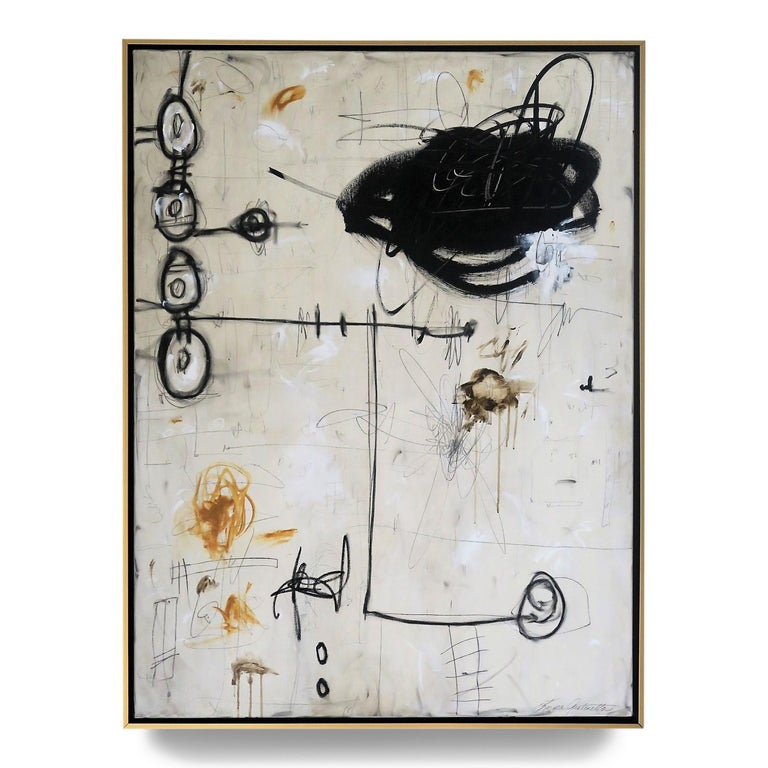 """""""Out of Time"""" Original Abstract Painting in Earth Tones, 48"""" x 36"""" - Mixed Media Art by Karina Gentinetta"""