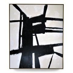 """""""Strength"""" Black and White Painting by Karina Gentinetta, 2019, 60"""" x 72"""""""