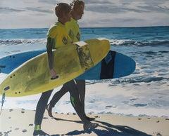 French Contemporary Art by Karine Bartoli - Surfers île de Ré