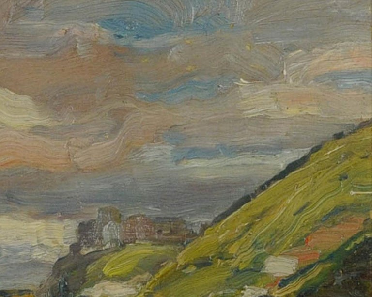 Road in Summer, near Giverny (A view from Andelys looking across to Vernon, Chateau Gaillard in the distance)-see photo Annotated by the artist on verso in pencil: