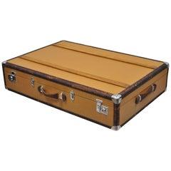 Karl Baisch Mercedes Benz Large Luggage Hard Suitcase Wood & Leather Trim Trunk
