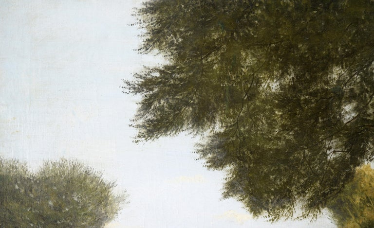 Stream at the Edge of the Forest - Landscape - Painting by Karl bock