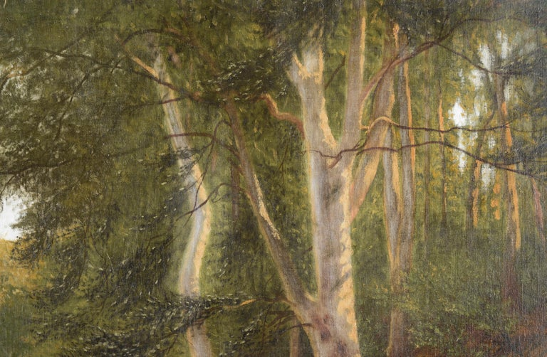 Stream at the Edge of the Forest - Landscape - Impressionist Painting by Karl bock