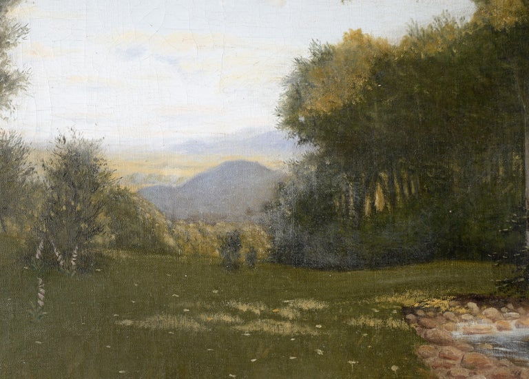 Stunning naturalist landscape by Karl Bock  (German, 1873-1940) in the style of and