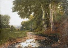 Stream at the Edge of the Forest - Landscape