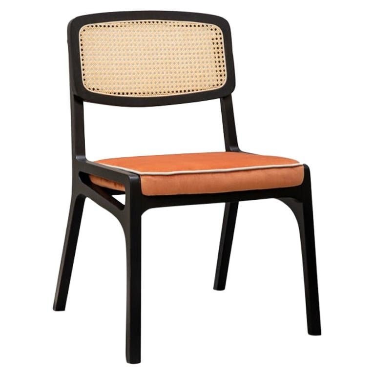 Dining Chair Karl in Solid Wood and Upholstery New