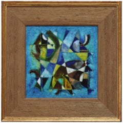 Karl Drerup Enamel Abstract Artwork