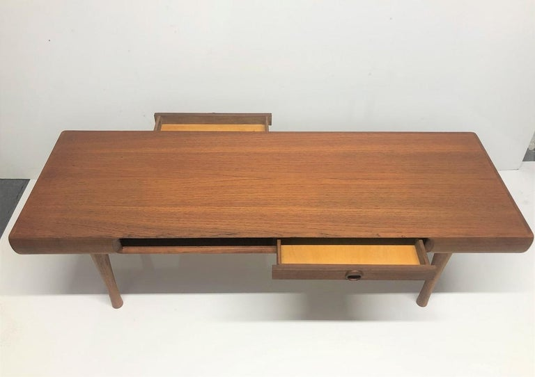 Karl Edvard Korseth Teak Coffee Table In Good Condition For Sale In New York, NY