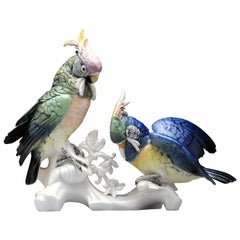 Karl Ens German Porcelain Cockatoo Parrot Bird Figurine