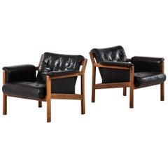 Karl-Erik Ekselius easy chairs by JOC in Vetlanda, Sweden