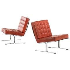 Karl-Erik Ekselius Easy Chairs Model F60 Produced by JOC in Vetlanda, Sweden