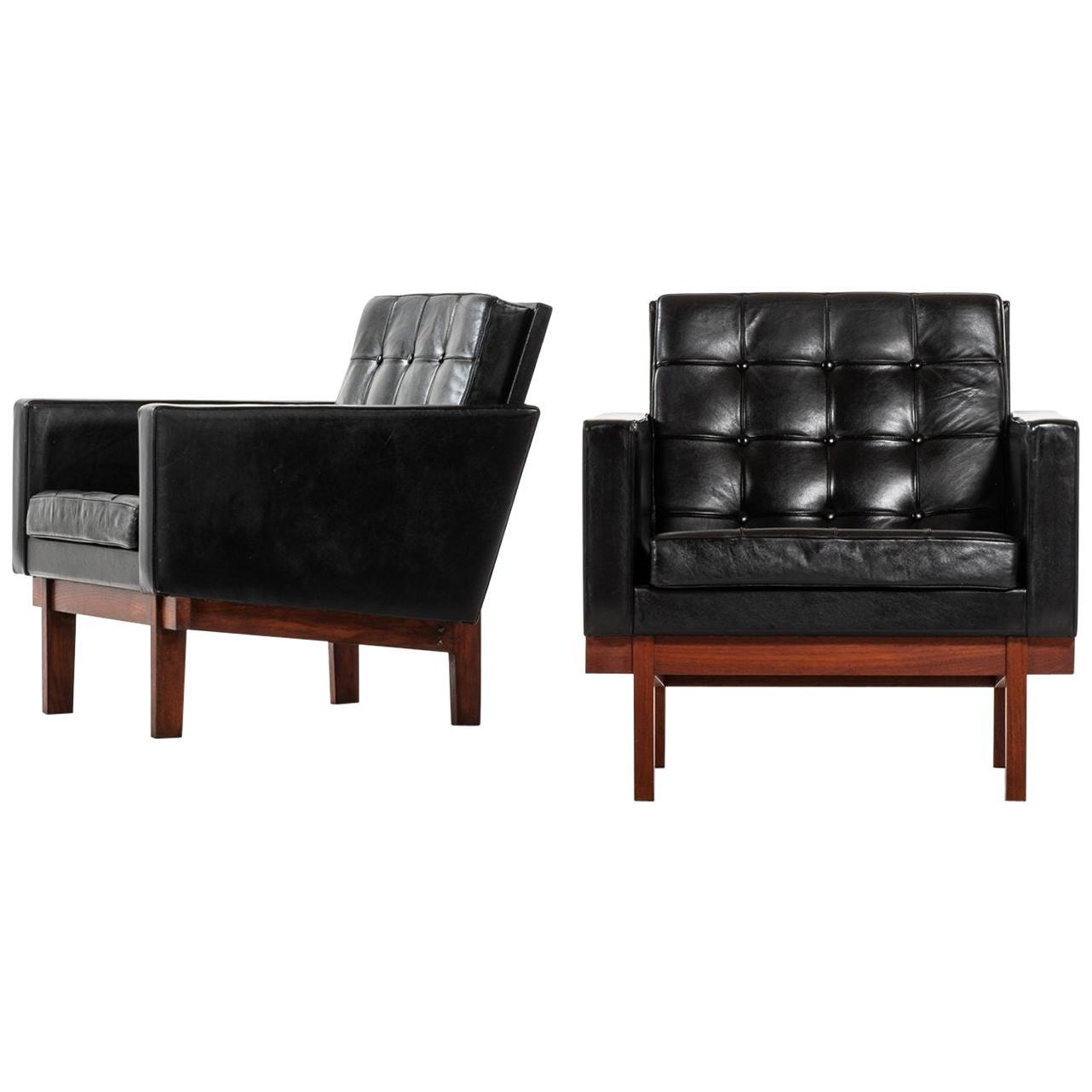 Karl-Erik Ekselius Easy Chairs Produced by JOC in Sweden