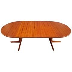 Karl-Erik Ekselius Teak Round or Oval Danish Modern Dining Table