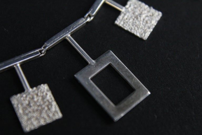 Karl-Erik Palmberg, Scandinavian Modern Necklace in Silver, Falköping, 1945 For Sale 6