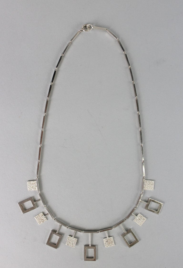 Karl-Erik Palmberg, Scandinavian Modern Necklace in Silver, Falköping, 1945 For Sale 7