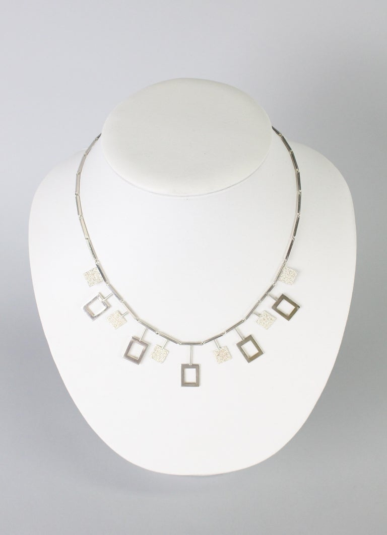 A wonderful modernist Swedish necklace by Karl Erik Palmberg, 1945. Great original condition, no issues.