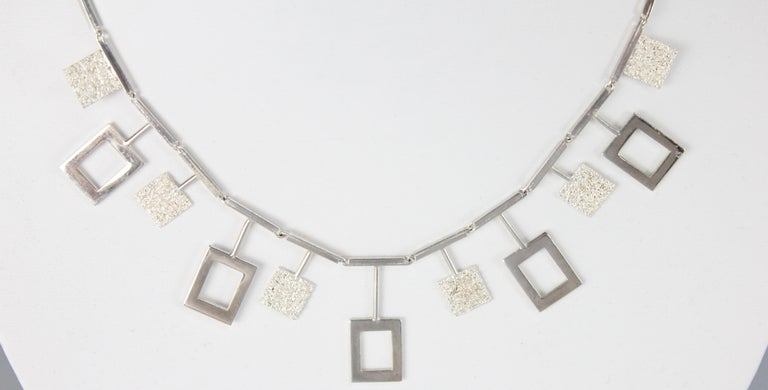 Women's Karl-Erik Palmberg, Scandinavian Modern Necklace in Silver, Falköping, 1945 For Sale
