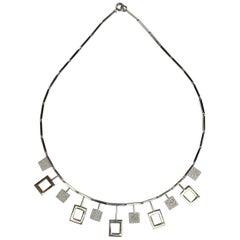 Karl-Erik Palmberg, Scandinavian Modern Necklace in Silver, Falköping, 1945