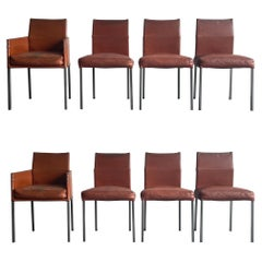 Karl Friedrich Förster 'KFF' Texas and Antica Dining Chairs, Leather and Metal