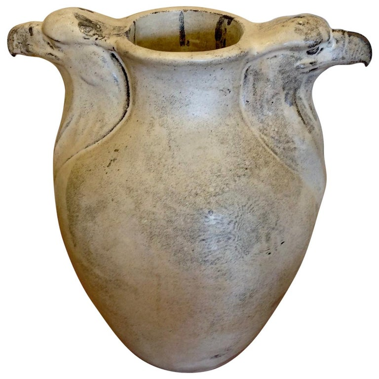 "Karl Hansen Reistrup for Kähler ""Eagle"" Motif Danish HAK Vase For Sale"