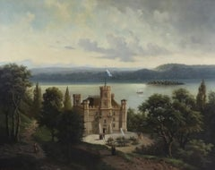 A Bavarian Castle in an extensive Landscape with a Lake