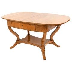 Karl Johan Style Antique Danish Biedermeier Birch Desk