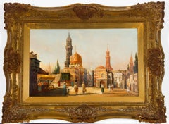 Karl Kaufmann - Signed & Framed 19th Century Oil, North African Street Scene