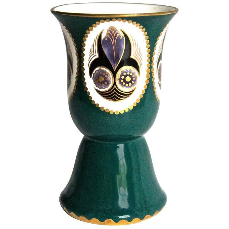 Karl Klaus Ernst Wahliss Serapis Hand-Painted Vase